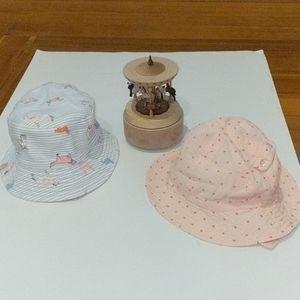 Set of Infant Bucket Sub Hats Joules & Egg 0/6 mo